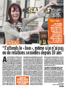 Pascale Piquet dans le Closer (magazine people français)